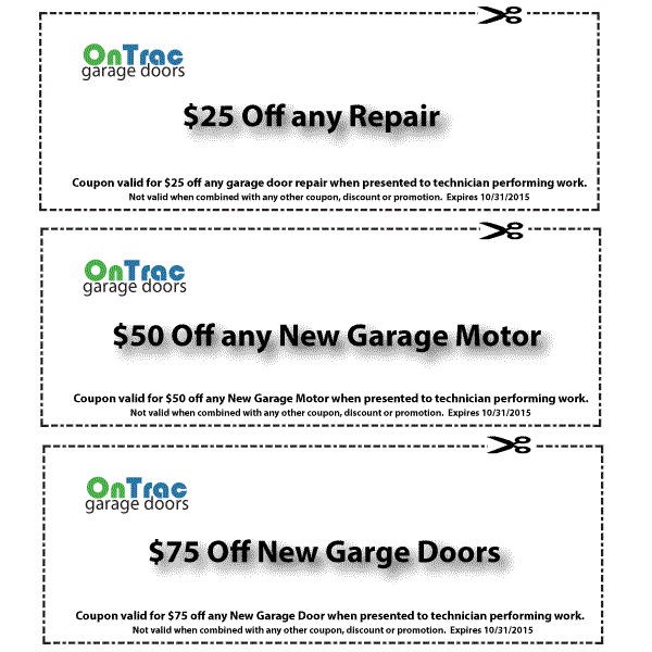 Greensboro Garage Door Service Discount Coupons
